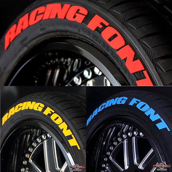 """Lettres racing de couleurs - 0,75""""- 1"""""""