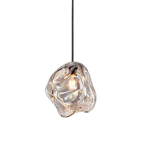 "Pendant lights 6.5"" hanging lights, Interior design lighting glass, glass art"
