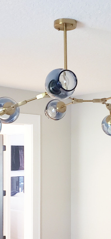 Smoke Blue Chandelier - Mantra Glass Art