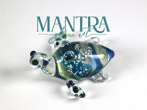 Sea Turtle Sculpture Memorial Glass