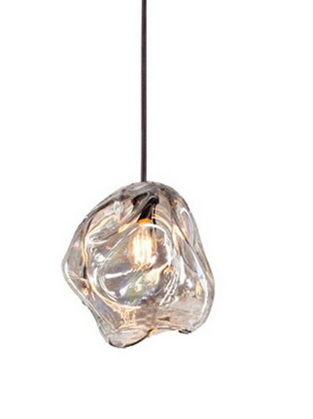 "5.5"" Dented Crinkle Blown Glass Bespoke Lights"