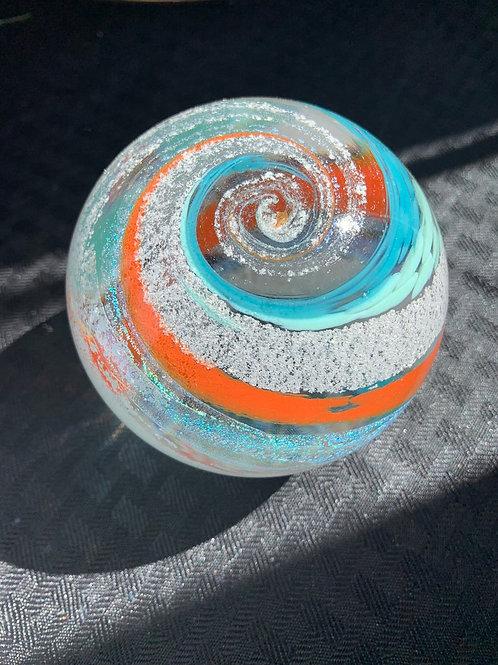 "Ash keepsake 3.5"" Cremation glass memorial orb"