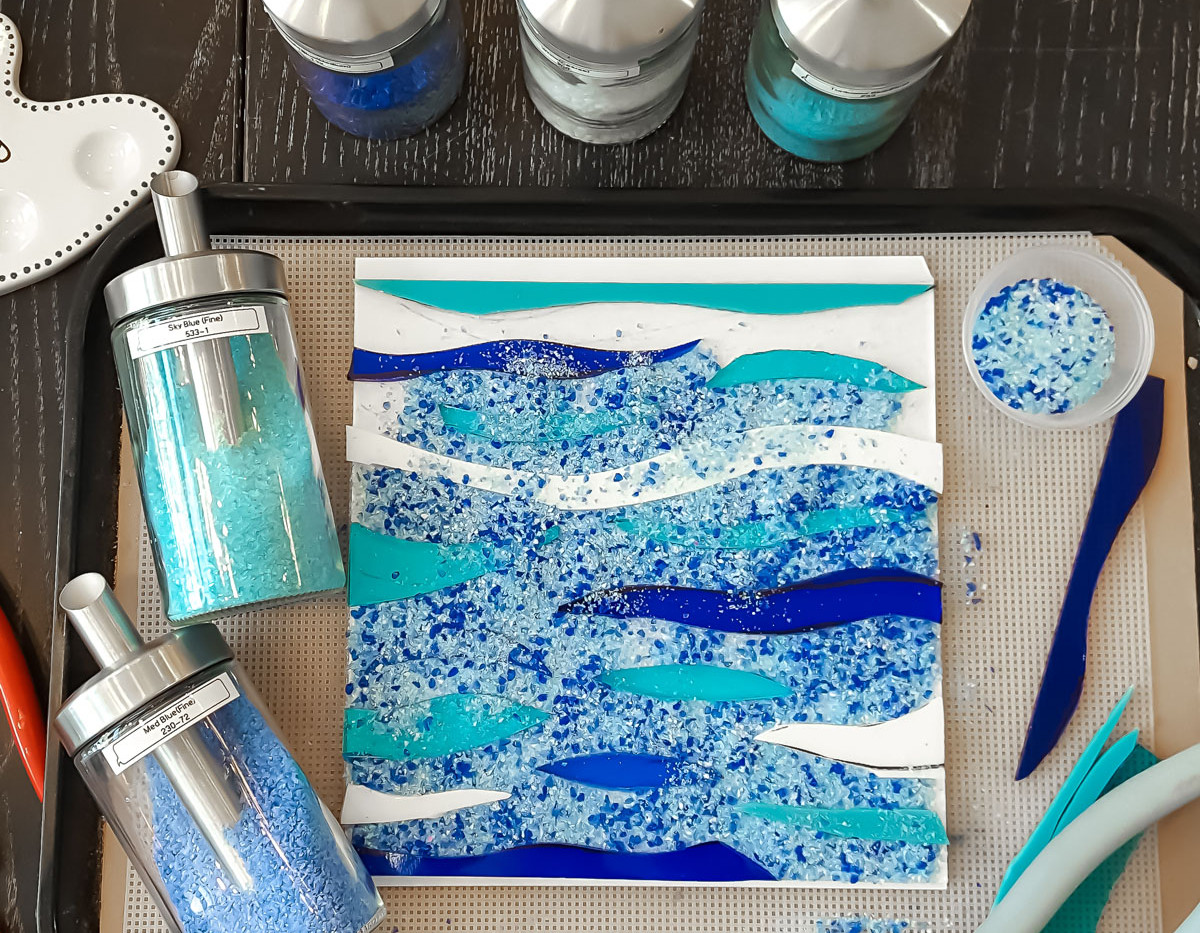 Layering glass for fusing