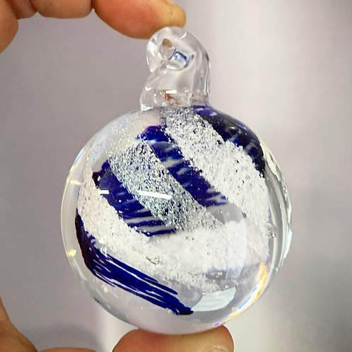 Ornament ashes in glass keepsakes, Memorial Glass - Choose your own colors!