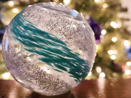 """4.5"""" Ashes in glass keepsake memorial orb - Choose your own colors!"""