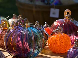 """Make your own 3-4"""" blown glass pumpkin"""