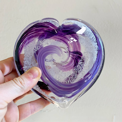 "5"" Cremation in Glass Heart"