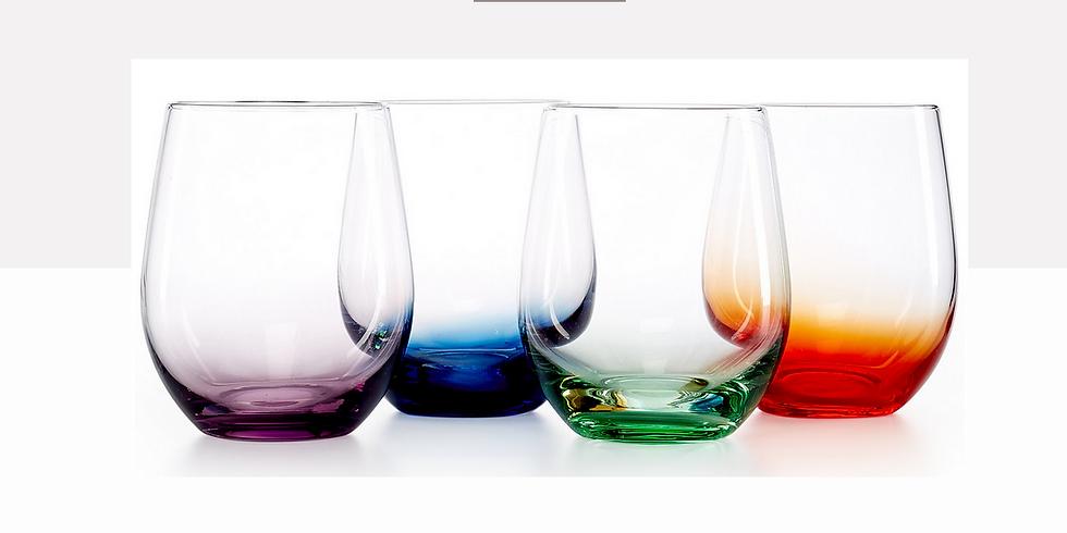 Buy 1 Get 1 Blown Glass Stemless Wine Glass