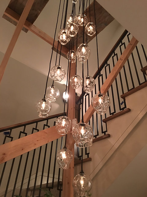 6 Dented Crinkle N Gl Bespoke Lights