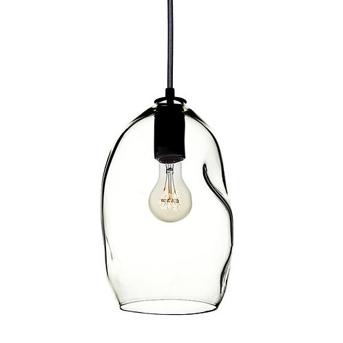 "8"" Dented Blown Glass BeSpoke Pendant Light"