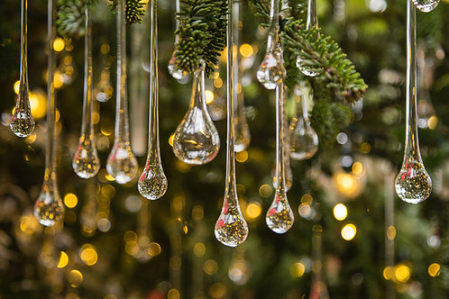 (4) Icicle Drops - Intro to Glass Blowing Class