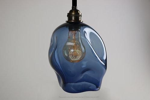 Blown Glass Smoke Blue Pendant Light - Glass Lighting
