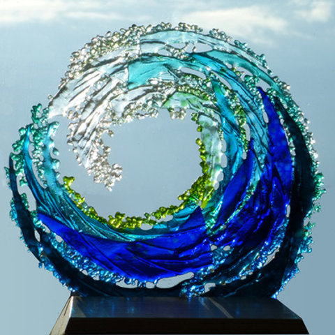 Make Your Own NO HEAT fused glass wave