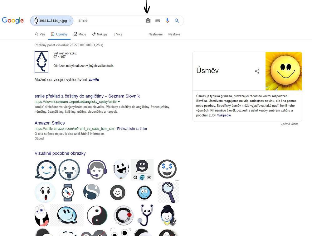 Výsledky vyhledávání - hledání obrázku