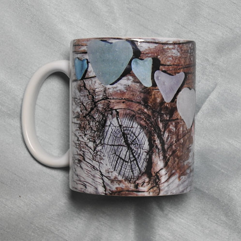 Coffee Mug with Sea Glass Image