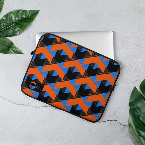 M.A.C.J Apparel Black Laptop Sleeve (Tile Pattern)