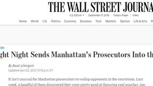 Fight Night Sends Manhattan's Prosecutors Into the Ring
