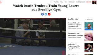 Watch Justin Trudeau Train Young Boxers at a Brooklyn Gym