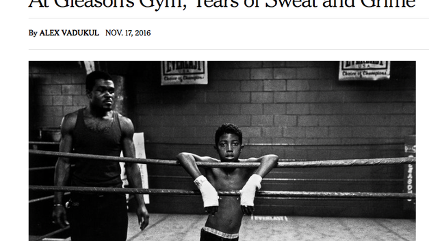 At Gleason's Gym, Years of Sweat and Grime