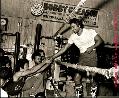 Roberto Duran At Gleason's on 30th St.