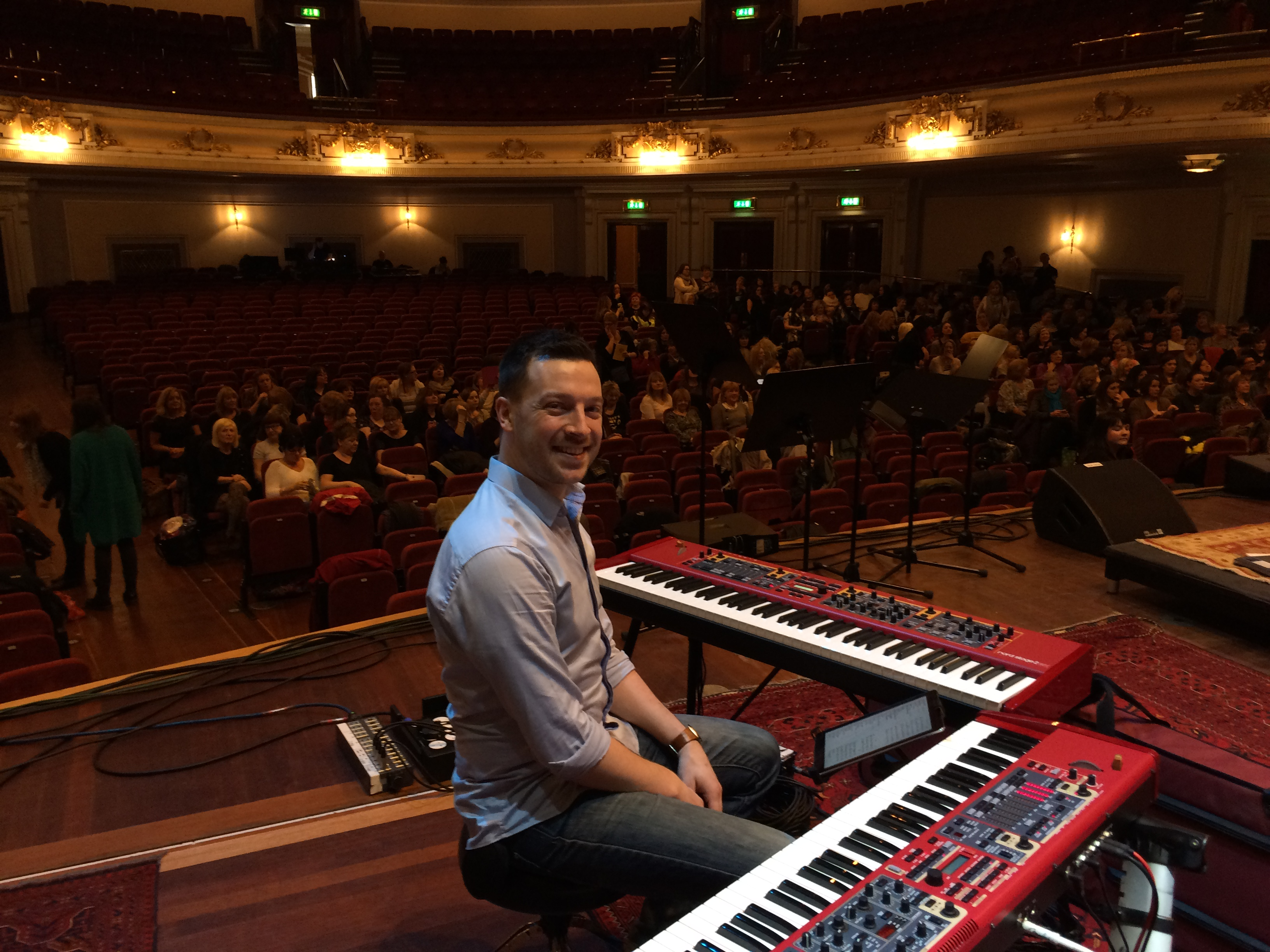 Rob at the Usher Hall