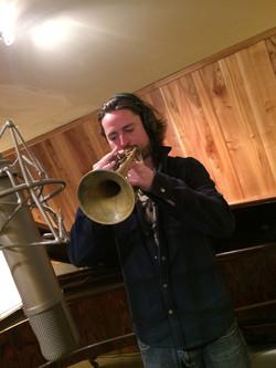Chuck recording the latest album