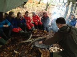 Forest School, bushcraft school trip