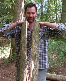 splitting log for axe day course