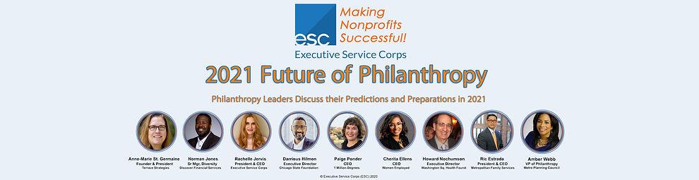 ESC's 2021 Future of Philanthropy Panel