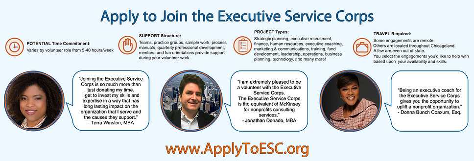 Apply to Join the Executive Service Corp