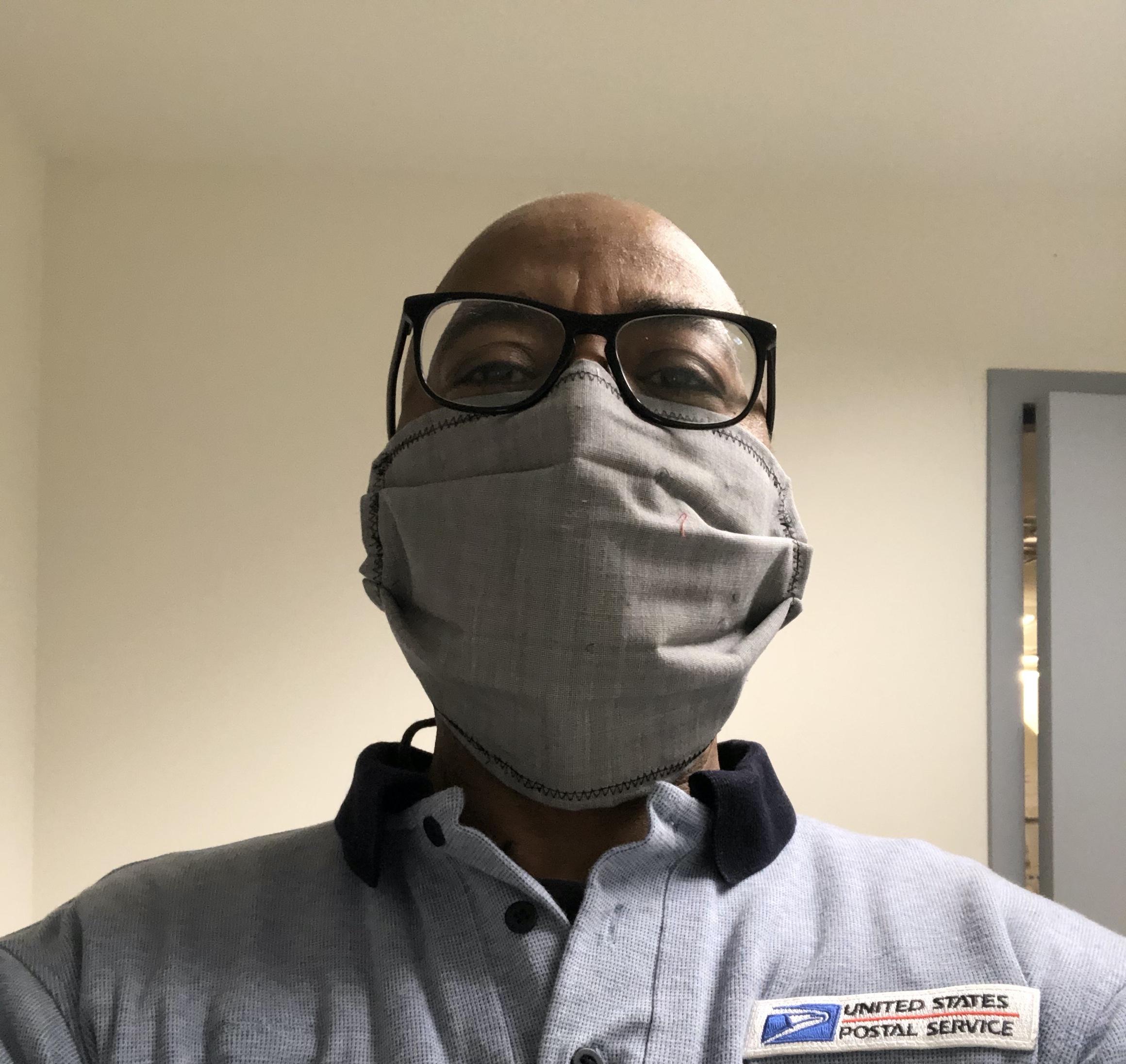 USPS Worker in ESC Mask