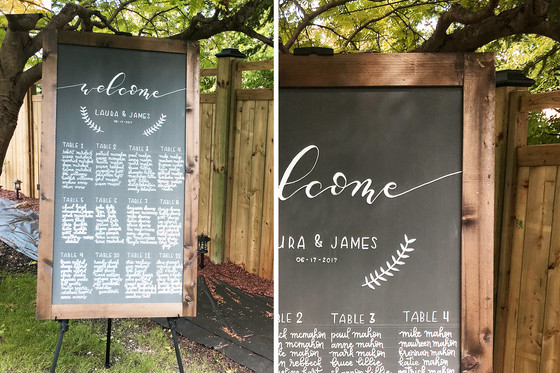 5 ways to add calligraphy to your wedding