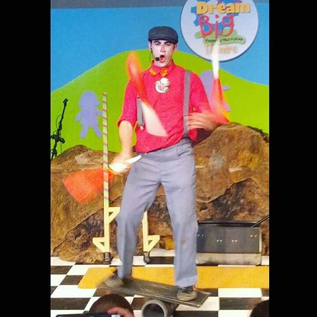 Teaching people about #circus the only way I know how--through performance
