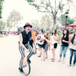 Well today marks my last day performing street circus at _SixFlagsMagicMountain