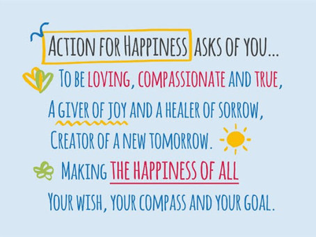 Action for Happiness 10 Keys to Happier Living Groups