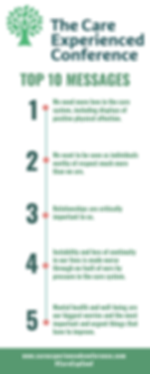 CareExpConf Top 10 Messages Infographic