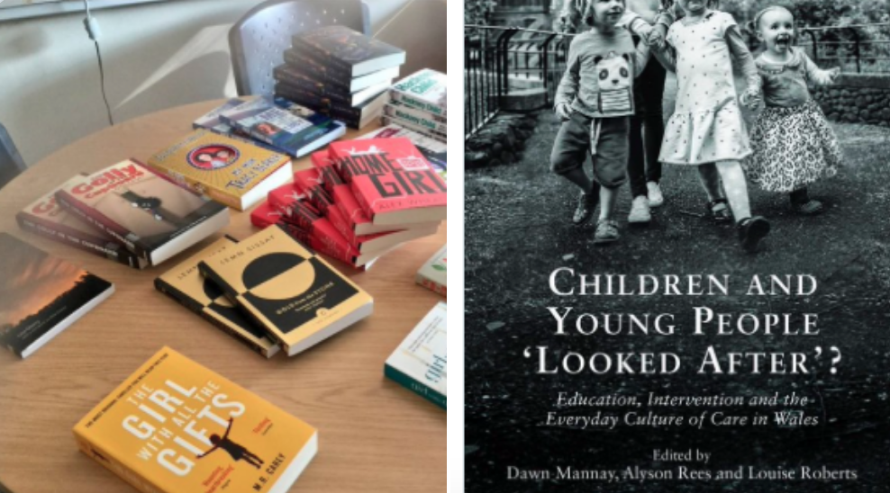 For me it was important that #literature would be included. We decided to ask people to donate books written by #careexp authors. People's generosity was wonderful including #authors & #academics.  @brixtonbard   @SallyBayley1   @KitdeWaal   @Jenni_Fagan   @HackneyChild   @b_mmcbride