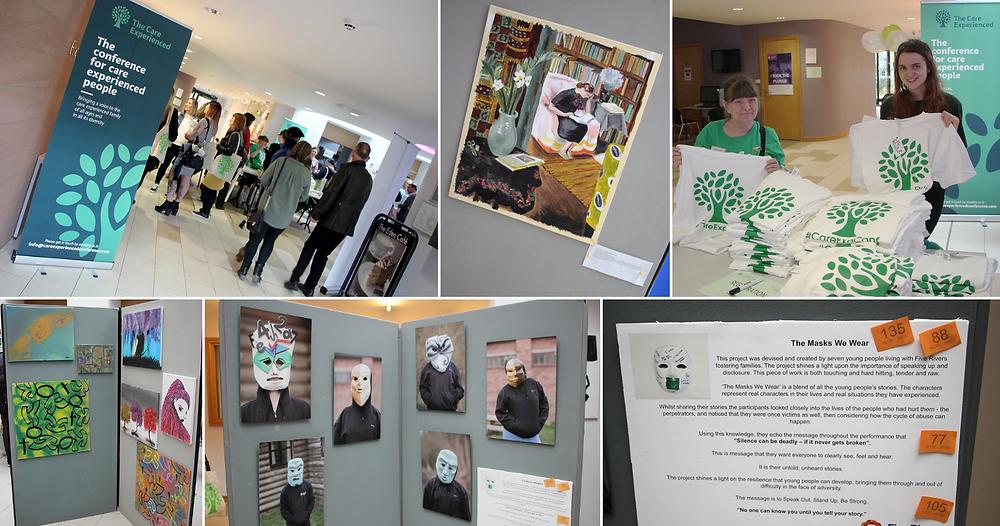 Photos of the CareExpConf art exhibition