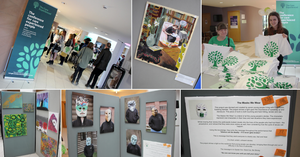 Photos of the CareExpConf art exhibition
