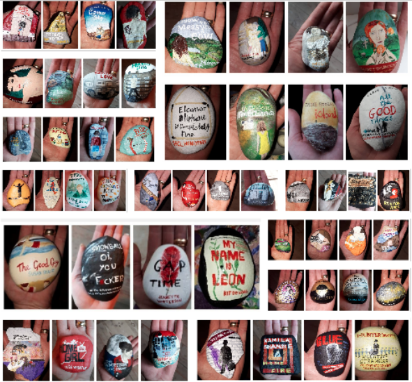 A good report will have excellent references so here's a picture version to the brilliant #orphanstones project. I absolutely loved this and the care with which they were laid out at the conference.   #CareExpConf  #artists