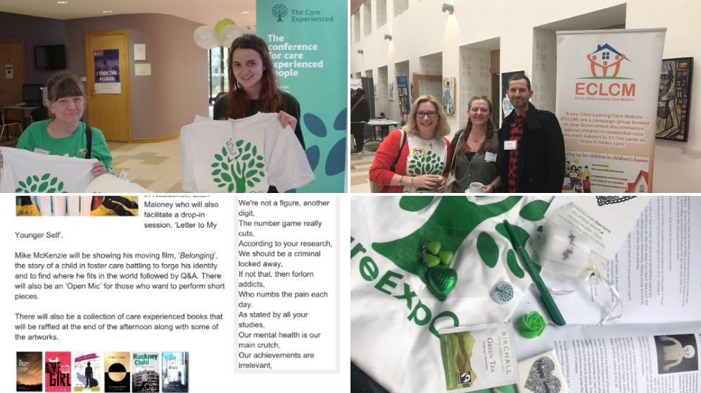#Setting is an important components of any story no less for the #CareExpConf which was held at the aptly named Liverpool *Hope* University. Organisations were donating goods, we even had t-shirts with our logo printed on. Brochures were being prepared.  @LiverpoolHopeUK