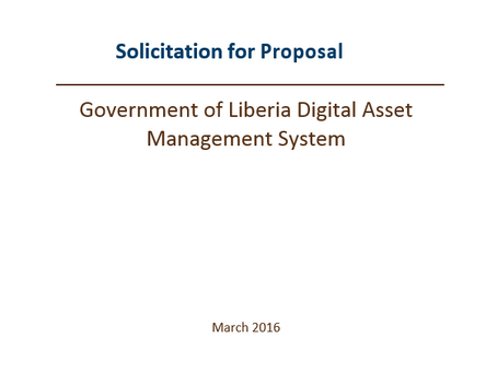 Solicitation for Proposal for the procurement of a digital Asset Management System for the Governmen