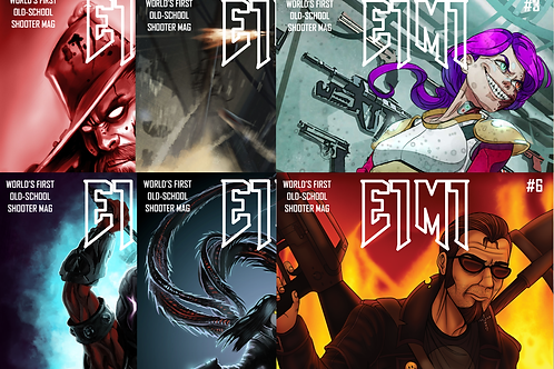 E1M1 Magazine - Issues #1-6 (Physical Bundle)