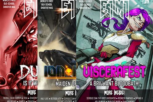 E1M1 Magazine - Issues #1-3 (Physical Bundle)