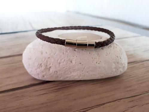 "Bracelet cuir homme ""Delta"""