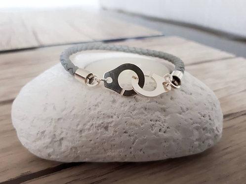"Bracelet cuir ""Altaïs"""