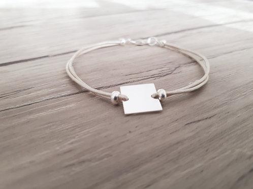 """Bracelet cuir et Argent """"Antares"""""""