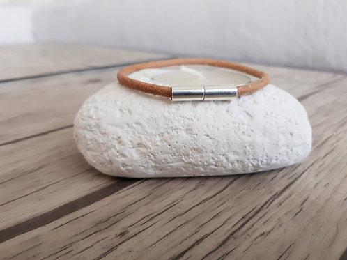 "Bracelet cuir et Argent ""Denebola"""
