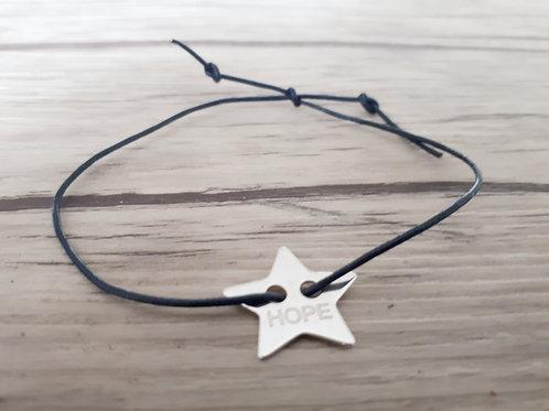 """Bracelet cuir """"Moody"""" Hope (étoile)"""