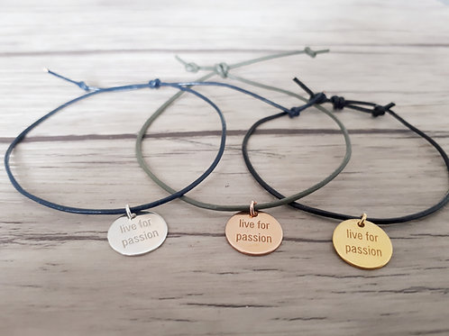 """Bracelet cuir """"Moody"""" Live for passion"""